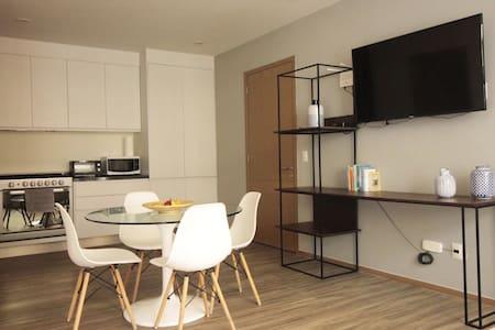 Nuevo y cómodo loft 2 camas en la Americana