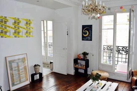 Appartement grands espaces aux buttes chaumont - Paris - Leilighet