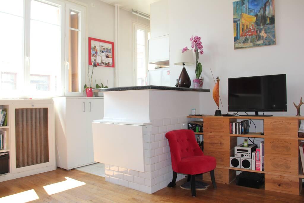 Appartement lumineux 15 me paris apartamentos en for Appartement atypique 15eme