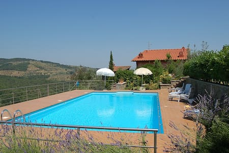 Cottage Giallo In Tuscany hills - Montevarchi - Flat