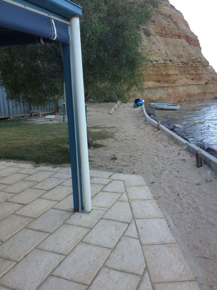 Absolute beach frontage with verandah or lawn area to sit on and admire the view!