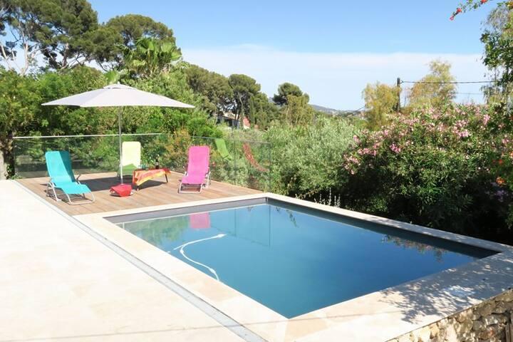 Belle villa 3 ch. wifi piscine aperçu mer terrasse