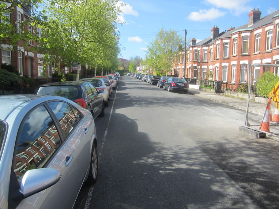 a view up the road which is a quiet residential cul de sac