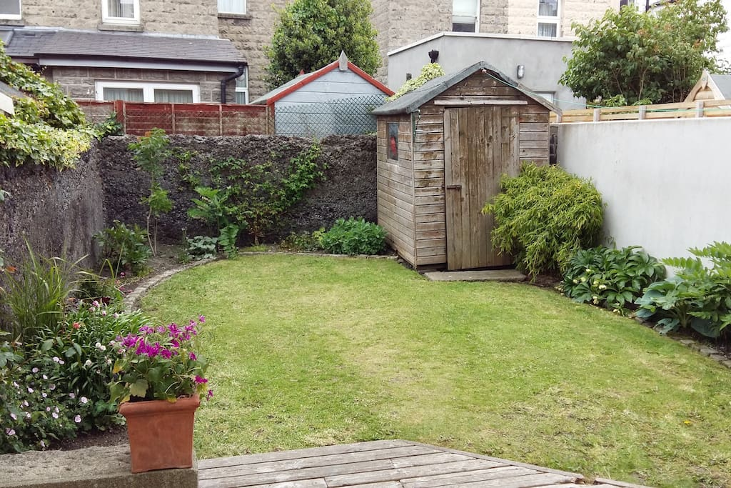 The small but well maintained back garden!