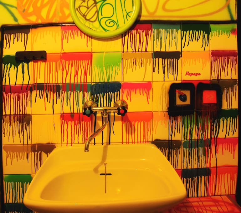 Colour sink in the room.
