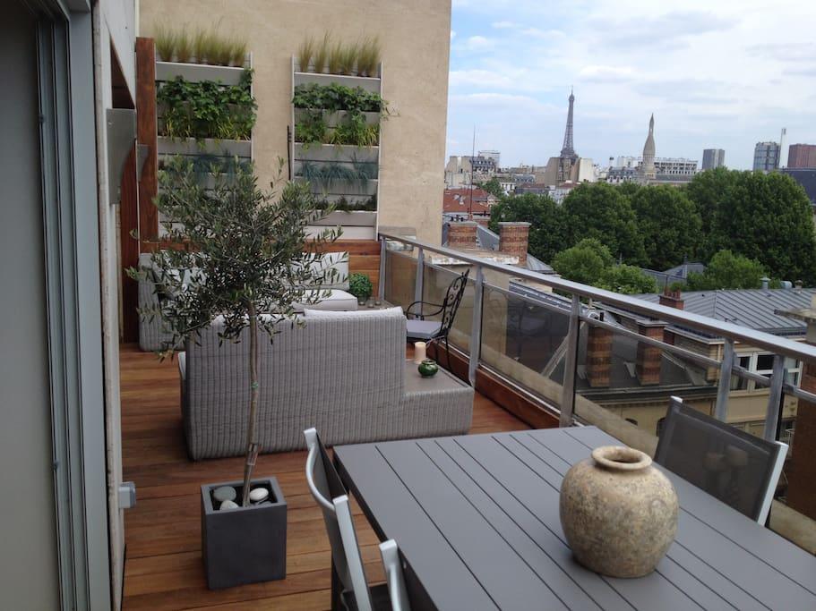 Belle Terrasse Parisienne Paris Le De