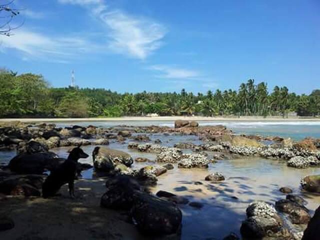 Shadow blue beach