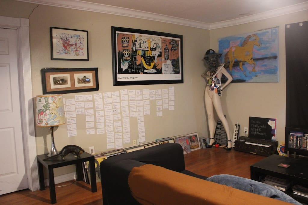 A wall with story boards of a movie I am working on.