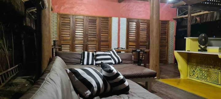 Suíte Casa Ballyhoo na vila de Barra Grande