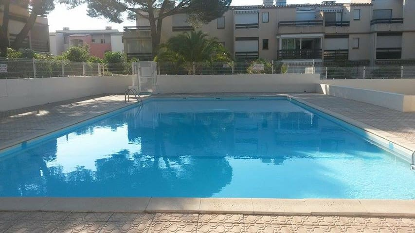 seaside apartment with pool - Agde - Apartamento