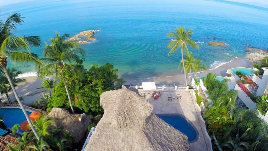 Beachfront Vallarta style Villa, Conchas Chinas. - Puerto Vallarta