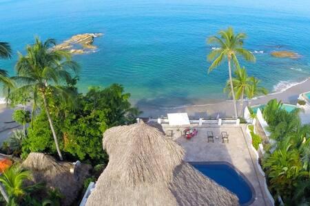 Beachfront Vallarta style Villa, Conchas Chinas. - Puerto Vallarta - Villa