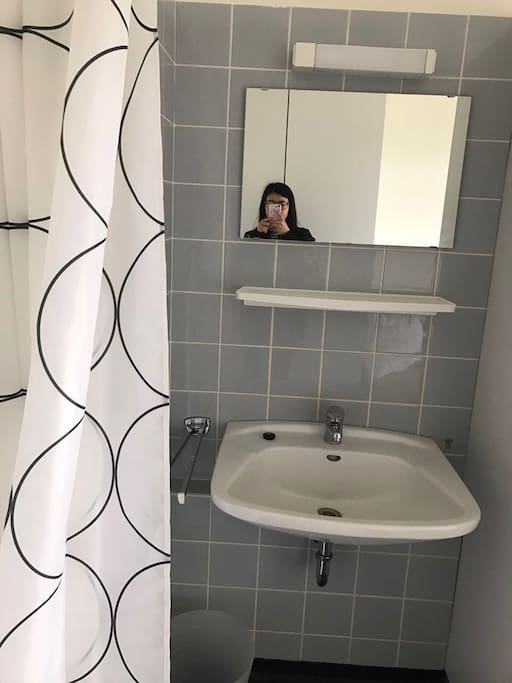 mirror and sink