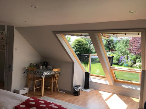 Spacious bright room with own bathroom