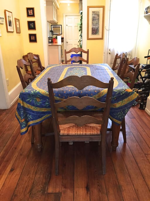 Dining room seats 6-8