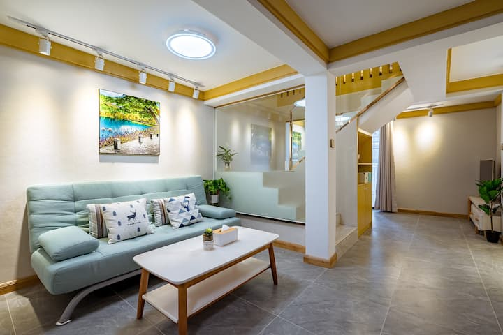 理享家洱海边日式轻奢loft复式2居套房可做饭~近大理港码头、洱海公园旁
