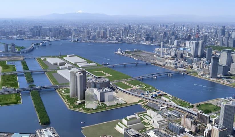 Shin Toyosu Skylounge Big Sight Disneyland Tsukiji