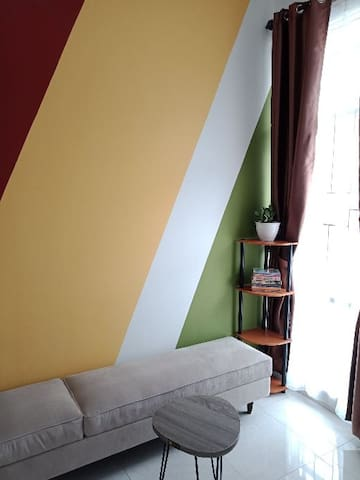 Living room and reading corner