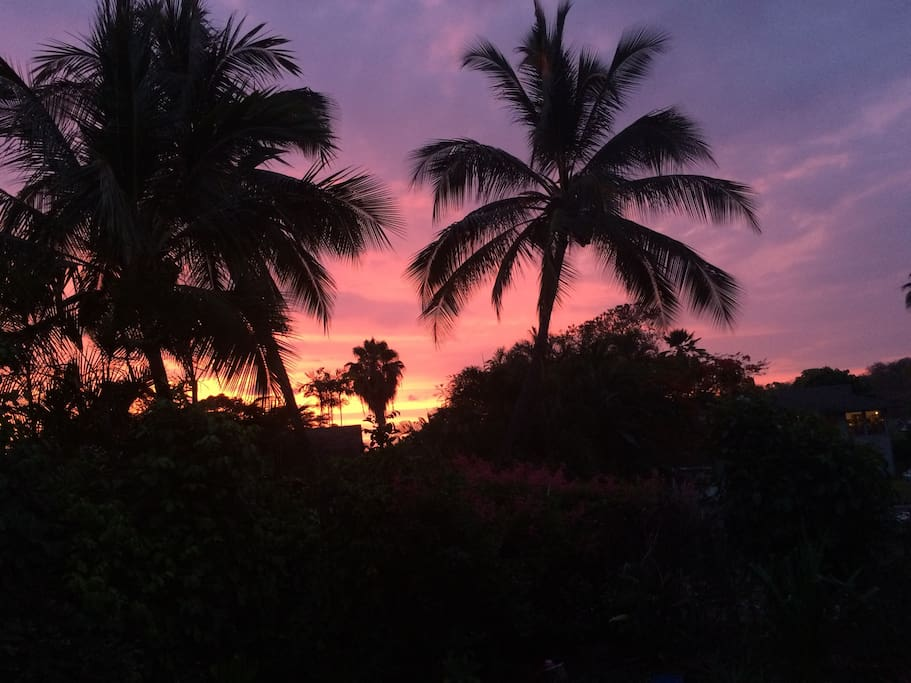 Beautiful sunset views.