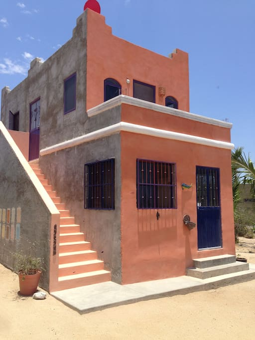 Casa Solariega. One deluxe suite upstairs and a suite w/a kitchenette downstairs.