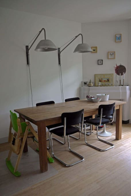 Large table; the centre of the appartement