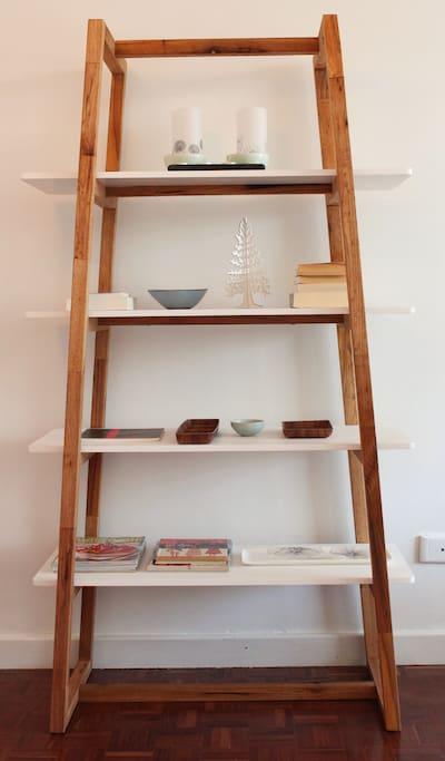Book shelf in living room