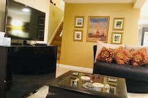 Entrance, Love seat ,Center table and TV