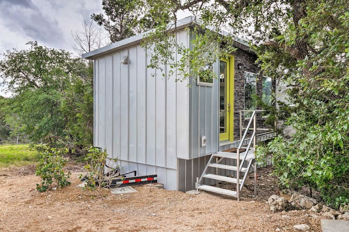 This vacation rental is a tiny home located in the Spicewood/Lakeway area.