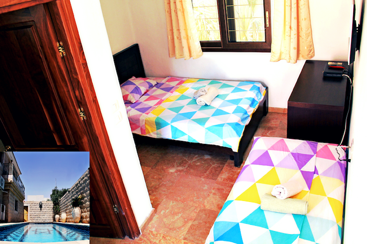 Twin room with sea view (Stone Lion villa 4)