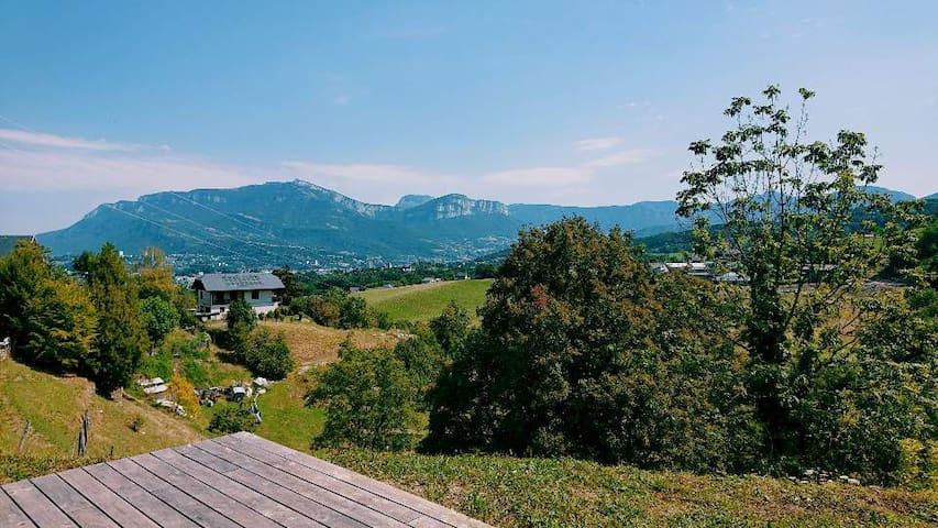 Logement 50m2  vue dégagée avec sauna privatif