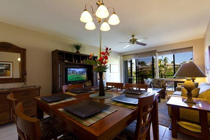 2BD Luxurious Condo Golf Course Front w/Ocean View - Kihei - Lägenhet