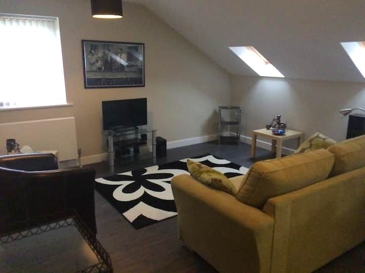 Spacious attic apartment in county durham village