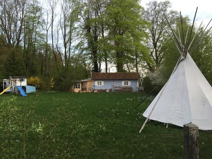 Häuschen am Wörthsee mit Seeblick - 5 Min. zum See