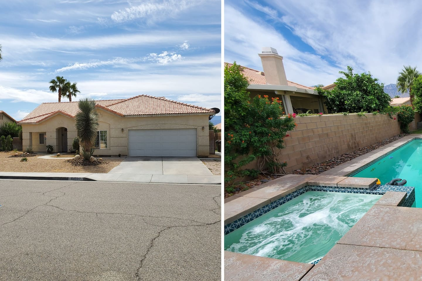 Single family residence, booking complete with private full backyard and garage access.