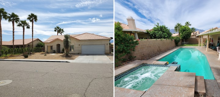 Sunny and spacious entire house with pool+jacuzzi