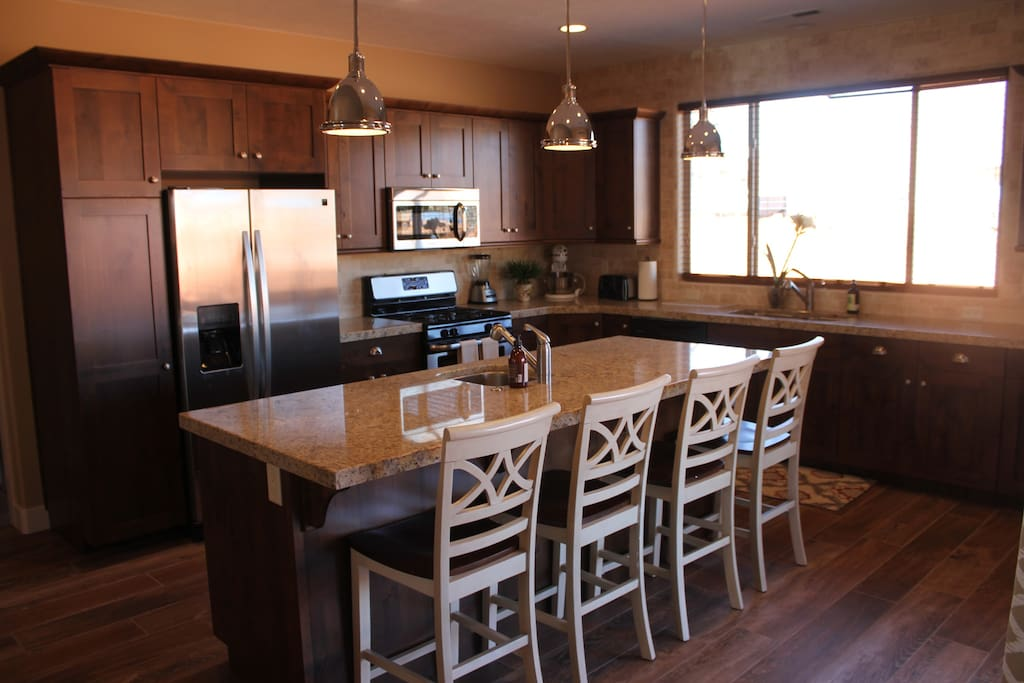 Fully stocked kitchen with everything you need for that backyard BBQ