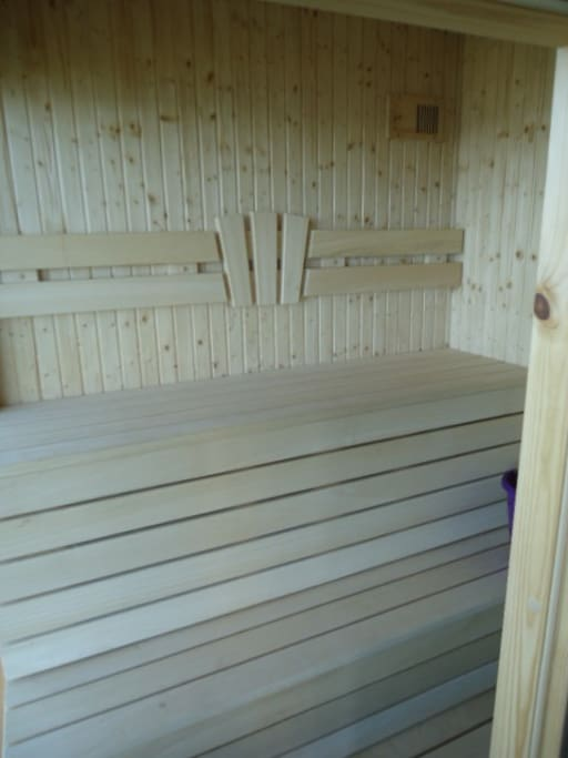 wooden Sauna for 4 persons.