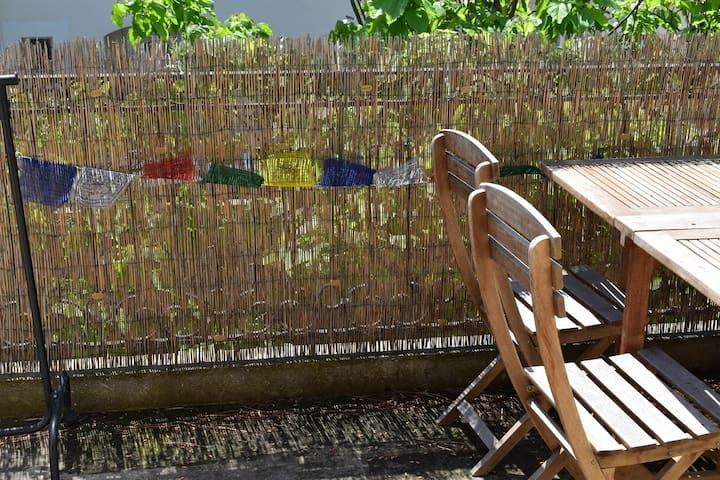 Chambre moderne sdb + douche, terrasse et parking - Saint-Saturnin-lès-Avignon - Apartment