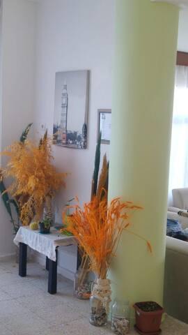 Flower, gardenwith  sea wiew