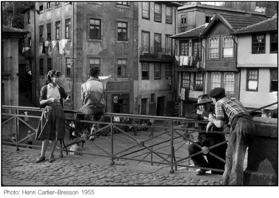 Casa da Hera (second from the right) photographed by Henri Cartier-Bresson in 1955.