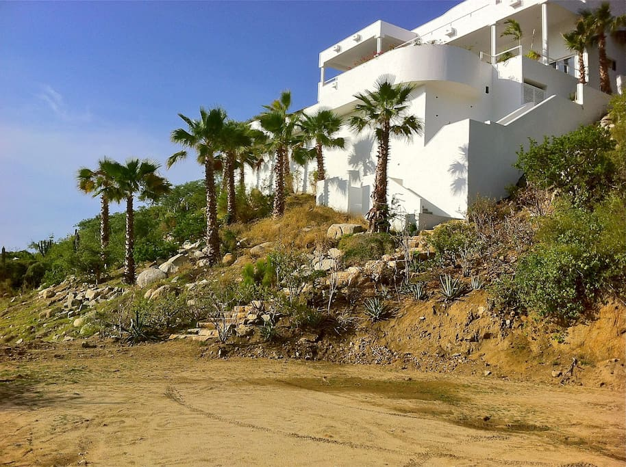 Casa Ungero is built right into the cliff side