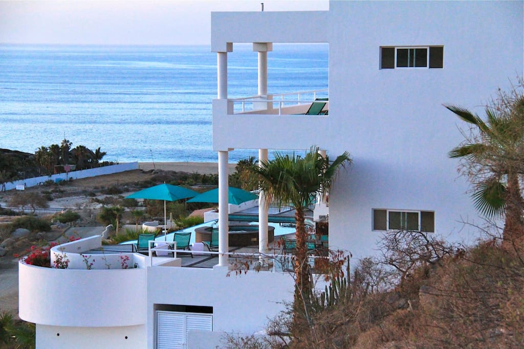 Multi level home with a pool and Jacuzzi that overlooks the Sea of Cortez