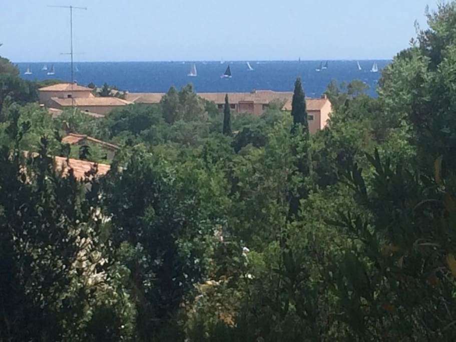 vue de la mer depuis le mas