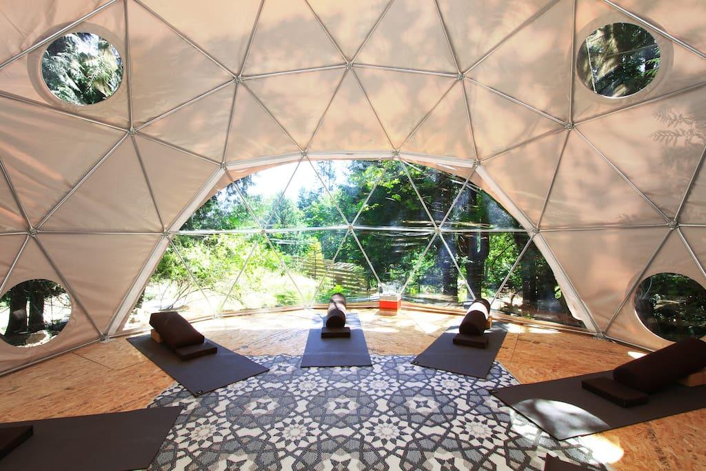Yoga Dome View