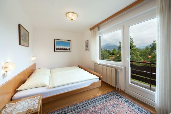 Room 1 (double room, private bathroom, garden view)
