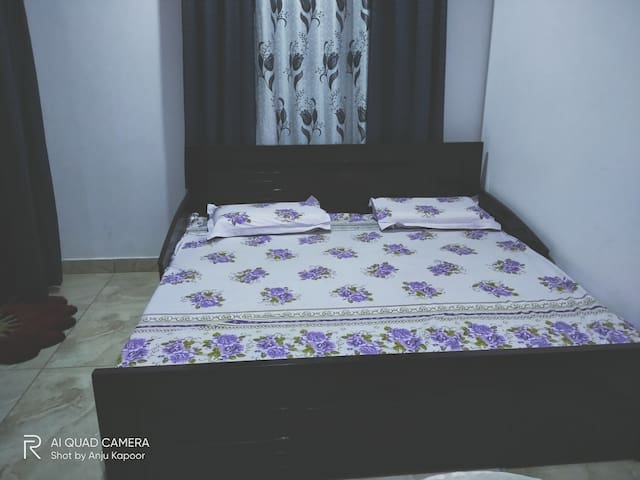 The second bed (optional). its diwan cum  double bed in the living room....
