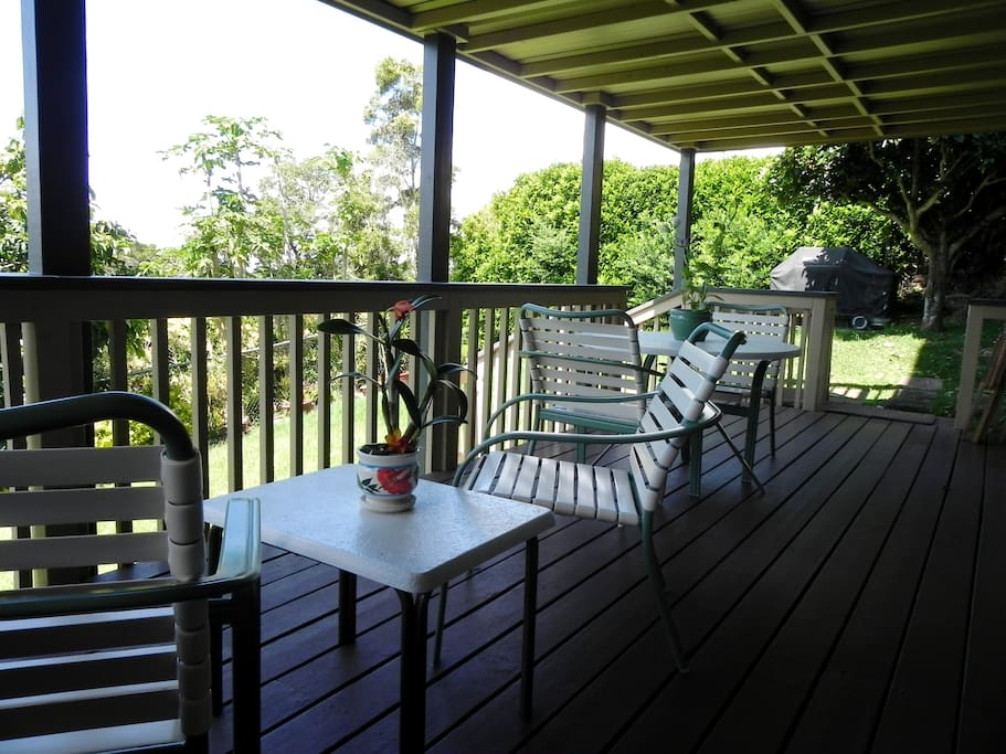 the lanai, backyard, and grill for your use!
