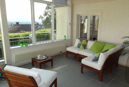 Beautiful flat with excellent view - Köniz - Apartment
