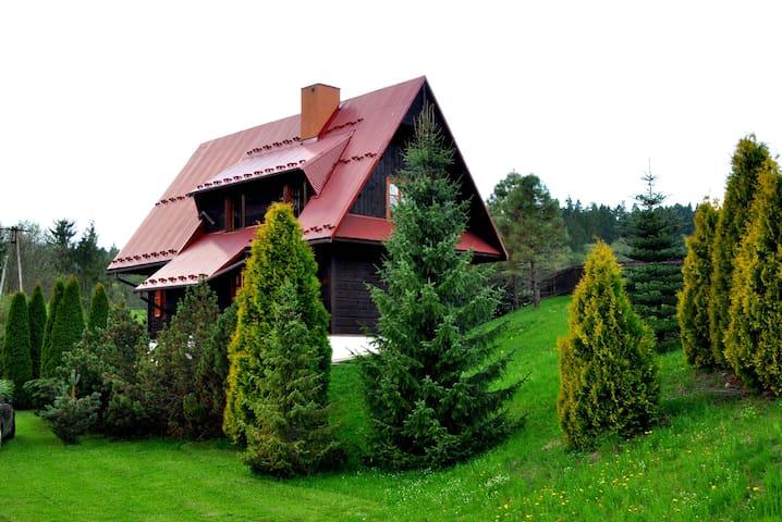Drewniany dom w górach z kominkiem! - Łapsze Niżne - House