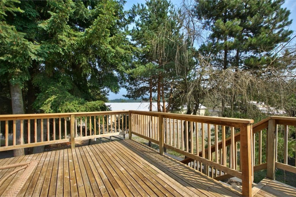 Large Back Deck overlooking property